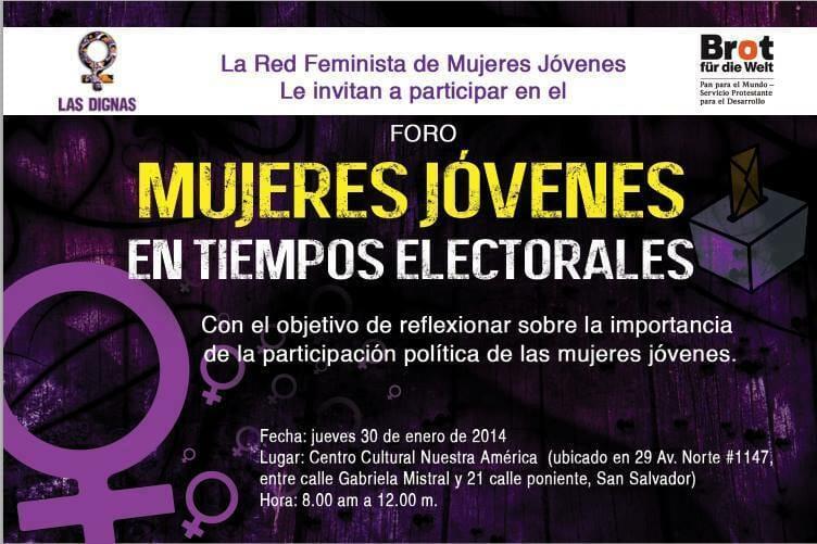 FORO - MUJERES JÓVENES EN TIEMPOS ELECTORALES - CC NUESTRA AMÉRICA - 30 ENERO 2014