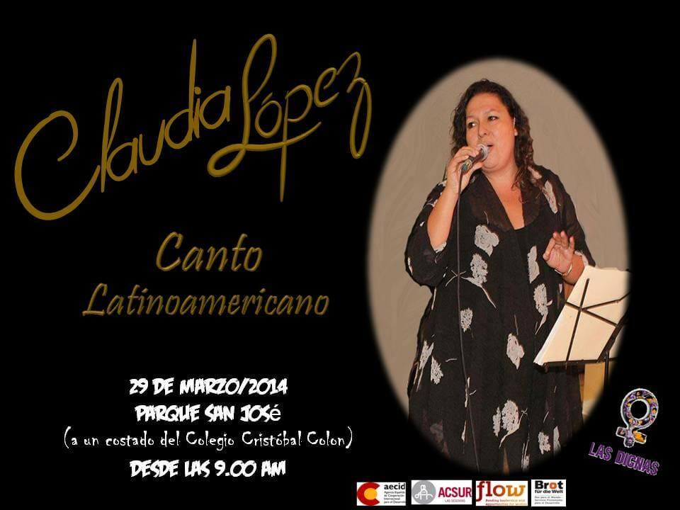 CANTO LATINO AMERICANO - CLAUDIA LÓPEZ - PARQUE SAN JOSÉ COL CA - 29 MARZO 2014