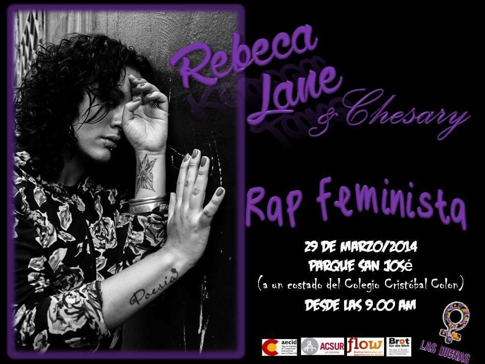 YA - RAP FEMINISTA - REBECA LOVE Y CHESARY - PARQUE SAN JOSÉ COL CENTRO AMÉRICA - 29 MARZO 2014
