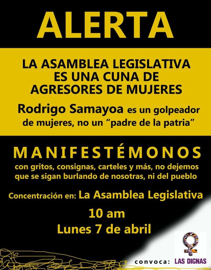 ALERTA - MANIFESTÉMONOS - ASAMBLEA LEGISLATIVA 7 ABRIL 2014