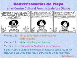 CONVERSATORIOS DE MAYO 2014 - CENTRO CULTURAL FEMINISTA LAS DIGNAS