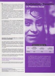 ANALFABETISMO FEMENINO UN PROBLEMA SOCIAL - PORTADA