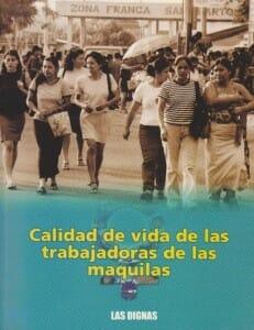 CALIDAD DE VIDA DE LAS TRABAJADORAS DE LAS MAQUILAS - 2003_PORTADA