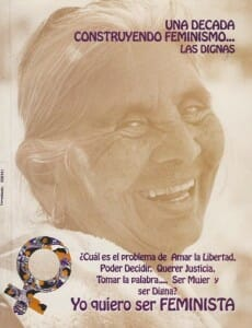 UNA DÉCADA CONSTRUYENDO FEMINISMO - LAS DIGNAS - 2000_PORTADA