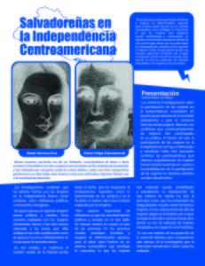 IMA_Salvadoreñas en la independencia Centroamericana