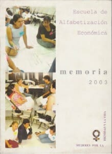 IMA_ESCUELA DE ALFABETIZACION ECONOMICA MEMORIA 2003