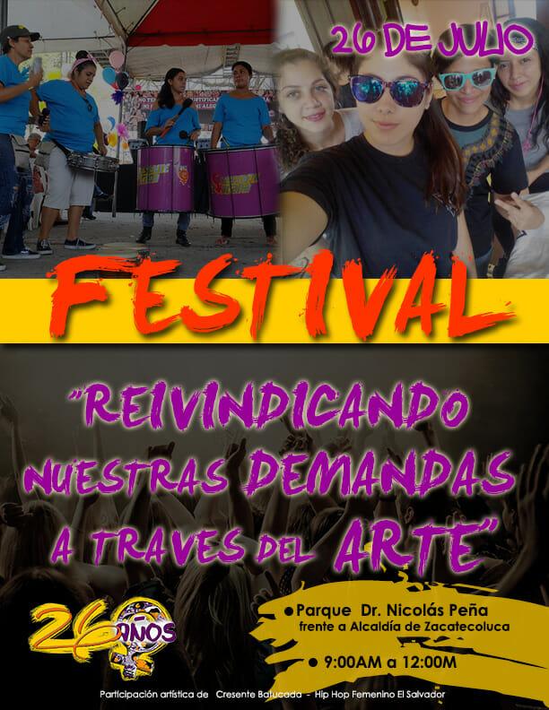 ZACATECOLUCA AFICHE FESTIVAL 2016