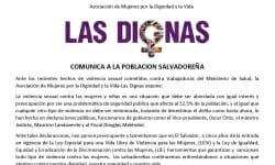 IMA_1COMUNICADO CASO MONTREAL VIOLENCIA SEXUAL CONTRA PROMOTORAS DE SALUD 2017